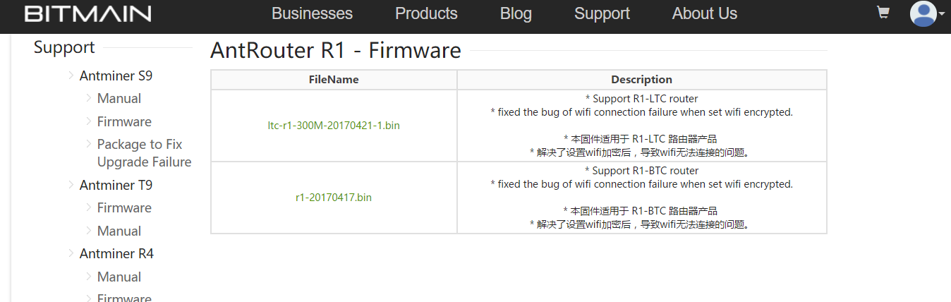 How to Upgrade Firmware - Antrouter R1, R1-LTC – Bitmain Support