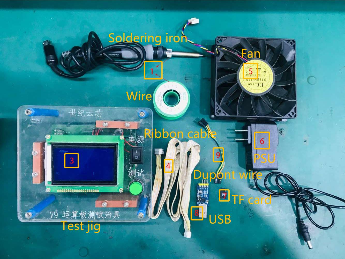 How to set up V9 V1.0 test jig manual for S9, S9i, S9j, R4 ... V Usb Wiring Schematic on
