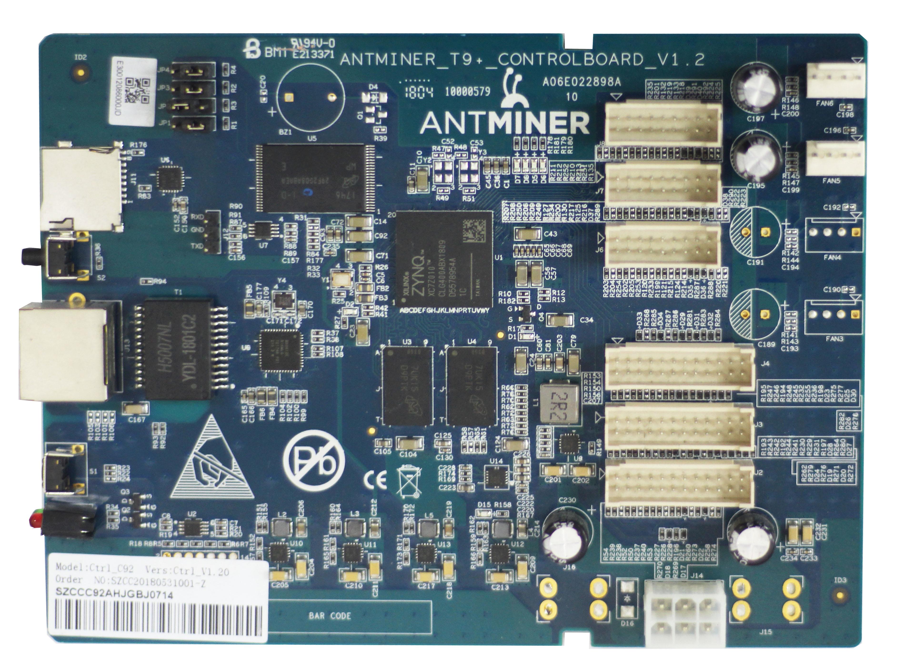 S9 series (S9, S9i, S9j, S9 Hydro) Control Board Program